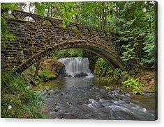Stone Bridge At Whatcom Falls Park Acrylic Print