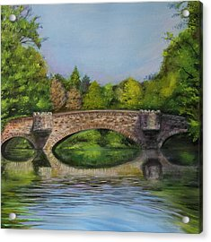 Stone Bridge In Midsummer Acrylic Print by Jerod Kytah