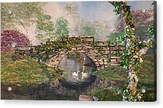 Stone Bridge Acrylic Print by Mary Almond