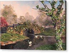 Stone Bridge Two Acrylic Print by Mary Almond