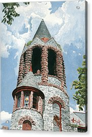 Stone Church Bell Tower Acrylic Print