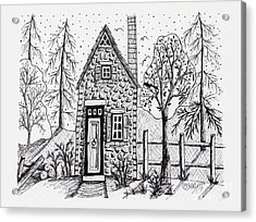 Stone Cottage Acrylic Print
