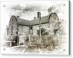 Acrylic Print featuring the photograph Stone Cottage by Wayne Sherriff