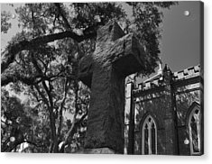 Stone Cross Acrylic Print by James Luce