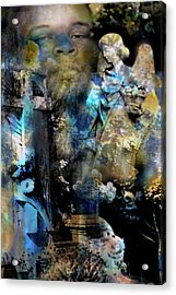 Stone Crosses And Death Angels - Michael Brown Acrylic Print