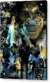 Stone Crosses And Death Angels - Trayvon Martin Acrylic Print