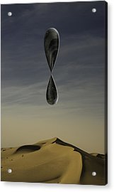 Acrylic Print featuring the photograph Stone Drip Over Dunes One by Kevin Blackburn