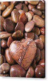 Stone Heart Acrylic Print by Garry Gay