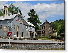 Stone House And Old Feed Mill Acrylic Print by Bob Sample