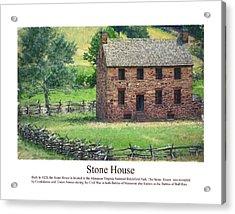 Stone House Acrylic Print