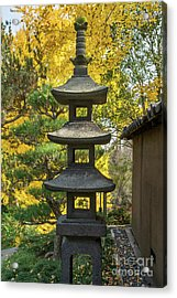 Stone Lantern Fall Acrylic Print by Jamie Pham