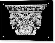 Stone Lion Column Detail Acrylic Print by Tom Mc Nemar