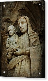 Stone Madonna And Child Acrylic Print