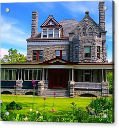 Acrylic Print featuring the photograph Stone Mansion Garden by Becky Lupe