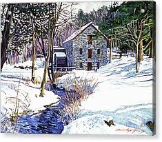 Stone Mill Acrylic Print by David Lloyd Glover