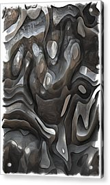Stone Or Metal Forms Acrylic Print by Jack Zulli