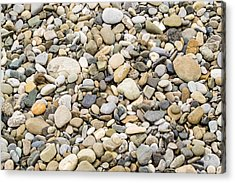 Acrylic Print featuring the photograph Stone Pebbles Patterns by John Williams