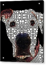 Stone Rock'd Dog 2 By Sharon Cummings Acrylic Print