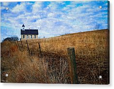 Stone Schoolhouse On The Kansas Prairie Acrylic Print