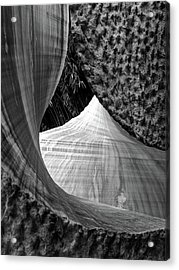 Acrylic Print featuring the photograph Stone Sculpture Abstract by Rand