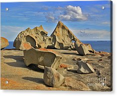 Stone Sculpture Acrylic Print by Stephen Mitchell