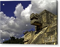 Stone Sky And Clouds Acrylic Print by Ken Frischkorn