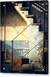 Acrylic Print featuring the photograph Stone Steps Outside An Old House by Silvia Ganora