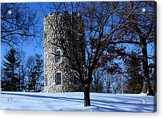 Acrylic Print featuring the photograph Stone Tower by Lois Lepisto