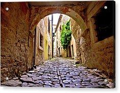 Stone Town Of Groznjan Old Street  Acrylic Print