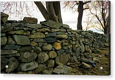 Stone Wall, Colt State Park Acrylic Print