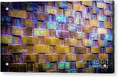 Acrylic Print featuring the photograph Brick Wall In Abstract 499 by D Davila