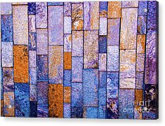 Acrylic Print featuring the photograph Stone Wall In Abstract 543 by D Davila