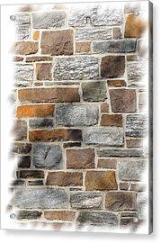Stone Wall Acrylic Print