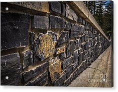 Stone Wall With Perspective Acrylic Print