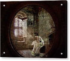 Acrylic Print featuring the digital art Stone Walls A Prison Make by Margaret Hormann Bfa