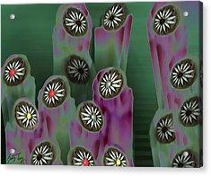 Stoned Flowers Acrylic Print