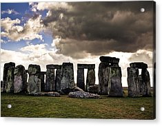Stonehenge After The Storm Acrylic Print by Justin Albrecht