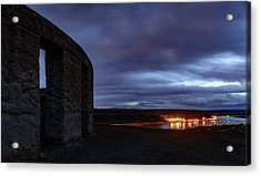 Acrylic Print featuring the photograph Stonehenge And The Columbia by Cat Connor