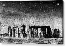 Stonehenge At Dusk Acrylic Print