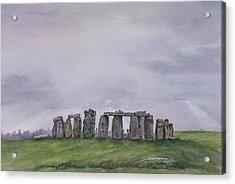 Stonehenge  Acrylic Print by Debbie Homewood