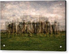 Stonehenge Acrylic Print by Denis Bouchard