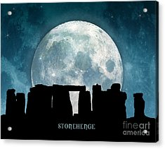 Acrylic Print featuring the digital art Stonehenge by Phil Perkins