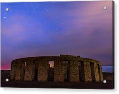 Acrylic Print featuring the photograph Stonehenge Sunrise by Cat Connor