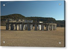Acrylic Print featuring the photograph Stonehenge Two Texas by Karen Musick