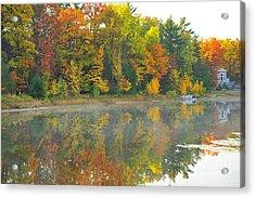 Stoneledge Lake Autumn Waterfront Acrylic Print by Terri Gostola