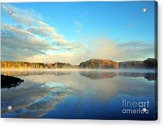 Stoneledge Lake Morning In October Acrylic Print by Terri Gostola