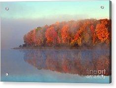 Stoneledge Lake Pristine Beauty In The Fog Acrylic Print