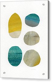 Stones- Abstract Art Acrylic Print by Linda Woods