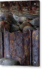 Rusted Stones 1 Acrylic Print by Steve Siri