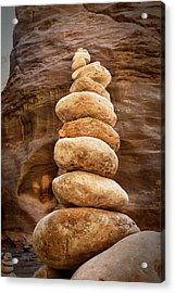 Stones In Canyon Acrylic Print